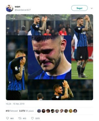 Tweet Icardi collage
